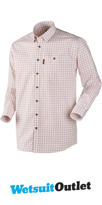 Dark Apple Check Button Under Collar Harkila Stenstorp Men/'s Shirt