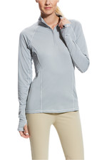 Ariat Womens Lowell 2.0 1/4 Zip Top Coastal Grey