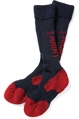 Ariat Ariat-tek Alpaca Socks Navy / Red