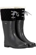 2021 Aigle Womens Polka Giboulee Fur Lined Boot 3756A - Noir