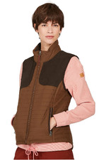 Aigle Womens Luyne LD Hunting Inspired Padded Gilet Brown