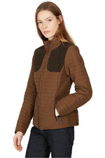 Aigle Womens Chauguet LD Hunting Inspired Padded Jacket Brown