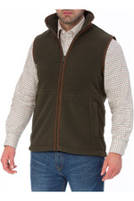 Alan Paine Mens Aylsham Fleece Gilet Green