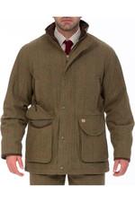Alan Paine Mens Combrook Tweed Shooting Field Coat Sage