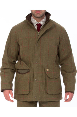Alan Paine Mens Combrook Tweed Shooting Field Coat Sage