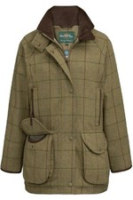 Alan Paine Womens Combrook Tweed Shooting Coat - Lotus