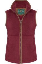 Alan Paine Womens Aylsham Fleece Gilet Bordeaux