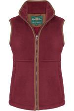 Alan Paine Womens Aylsham Fleece Gilet Bordeaux