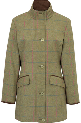 Alan Paine Womens Combrook Tweed Field Jacket Juniper