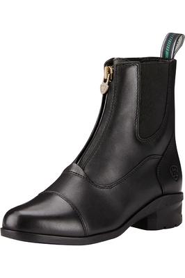 Ariat Womens Heritage IV Zip Short Boots Black