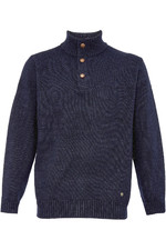 Dubarry Mens Mallon Half Zip Sweater Navy