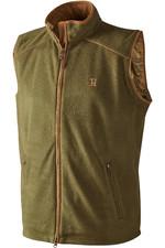 Harkila Mens Sandhem Fleece Waistcoat Olive Green Melange