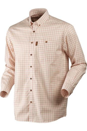 Harkila Mens Shirt Stenstorp Button-Under Burnt Orange Check
