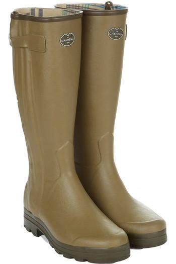 Le Chameau Chasseur Jersey Lined Wellington Boots Vert Vierzon Vert Vierzon