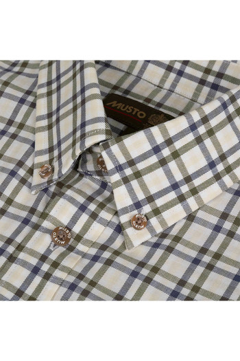 Musto Mens Classic Button Down Shirt Cairngorms Gold