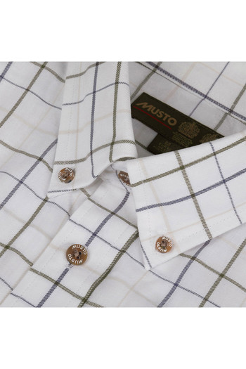 Musto Mens Classic Button Down Shirt Farlan Worsted