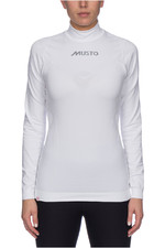 Musto Womens Base Layer Turtle Neck White