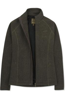 Musto Womens Super Warm Polartec Windjammer Fleece Jacket Forest Green
