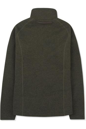 Musto Womens Super Warm Polartec Windjammer Half Zip Fleece Jacket Forest Green