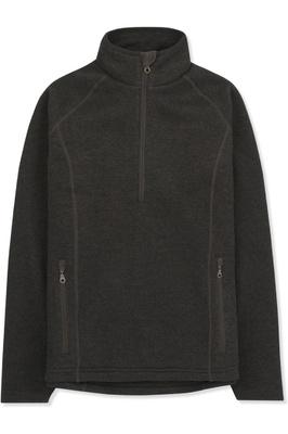 Musto Womens Super Warm Polartec Windjammer Half Zip Fleece Jacket Liquorice