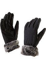 SealSkinz Womens Sea Leopard Lux Gloves Black