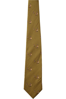 Seeland Morgan Silk Tie Dark Olive