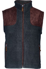 Seeland Mens William II Fleece Gilet Navy Blue