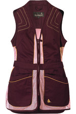 Seeland Womens Skeet Shooting Waistcoat - Bitter Chocolate