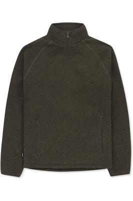 Musto Mens Super Warm Polartec Windjammer Half Zip Fleece Jacket Forest Green