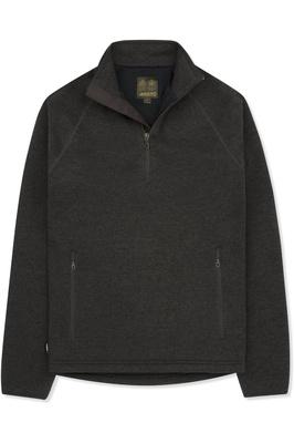 Musto Mens Super Warm Polartec Windjammer Half Zip Fleece Jacket Liquorice
