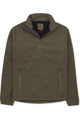 Musto Mens Super Warm Polartec Windjammer Half Zip Fleece Jacket Moss